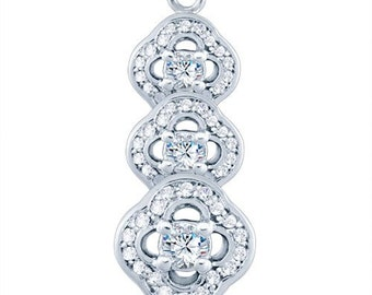 Sterling Silver Eclectic Fashion Pendant with Diamonds G-H I2-I3