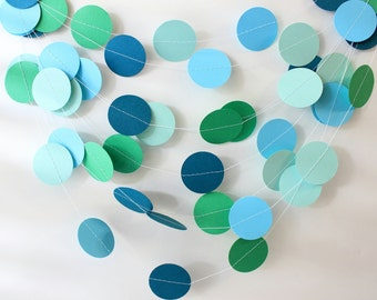 Paper Garland, Wedding Garland, Circle Garland, Confetti Garland, Dot Garland, Baby Shower, Bridal Shower, Birthday Party, First Birthday