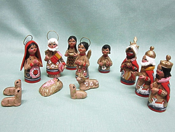 Mexican Hand Painted Nativity Set