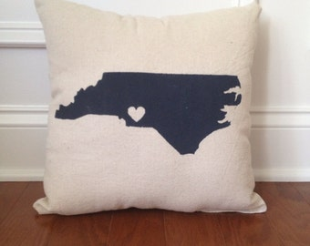 State or Country Heart Love pillow