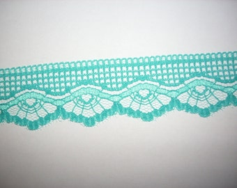 Lace ribbon 2m, Turquoise (420)