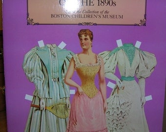 FASHION PAPER DOLLS of the 1890's