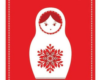Russian Doll Christmas Gift Tags Pk20