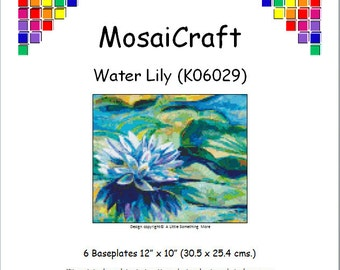MosaiCraft Pixel Craft Mosaic Art Kit 'Water Lily' (Like Mini Mosaic and Paint by Numbers)
