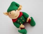 Santa's Little Helper Elf Christmas Cake Decoration/Topper