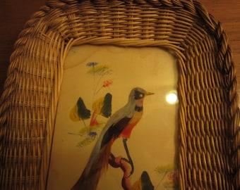 vintage Mexican bird tray