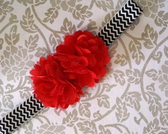 Red and Black Headband