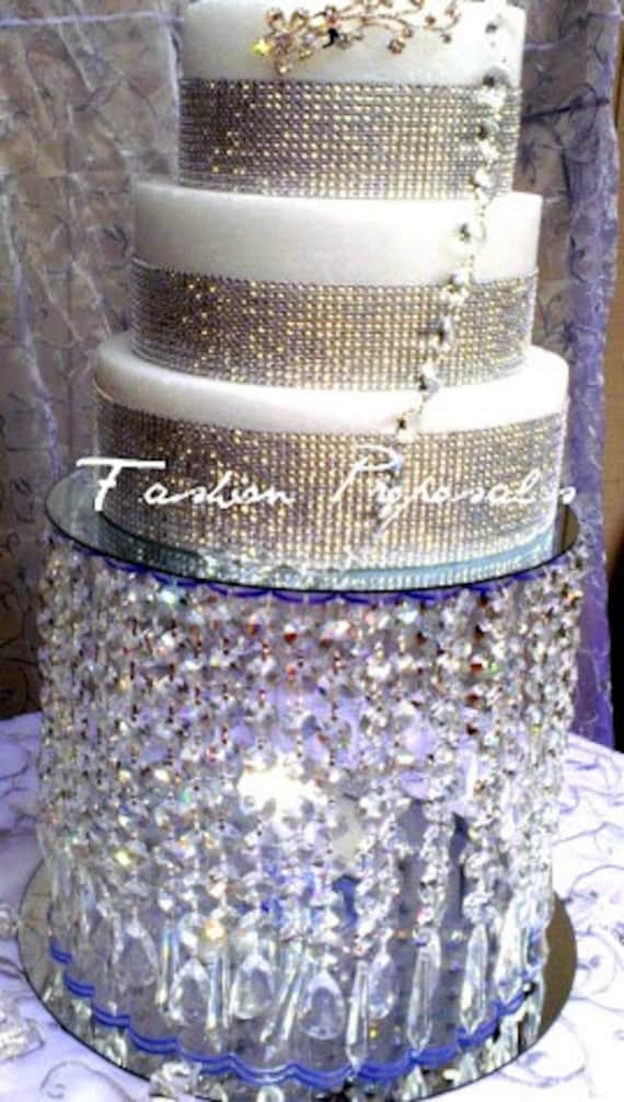wedding cake stands with crystals wedding cake stand with crystals by fashionproposals 25676