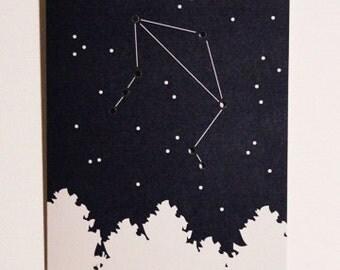 Zodiac Constellation Card (Libra)