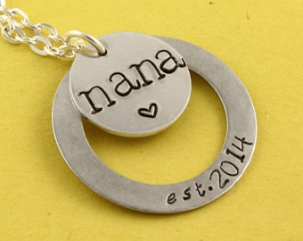 Nana Necklace - Grandma Necklace - Personalized Custom Necklace - New Baby Necklace - Mother's Day Gift - Gift For Nana - Gift For Grandma