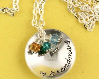 Grandma Necklace - Birthstone Necklace - Personalized Necklace - Gift for Grandma - Gift for Grandmother - Customizable Gift - Nana Gift