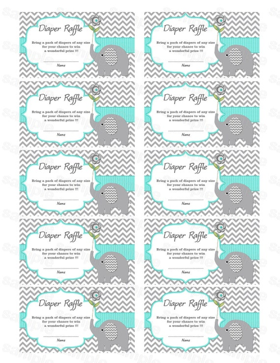 Impeccable image inside diaper raffle tickets free printable