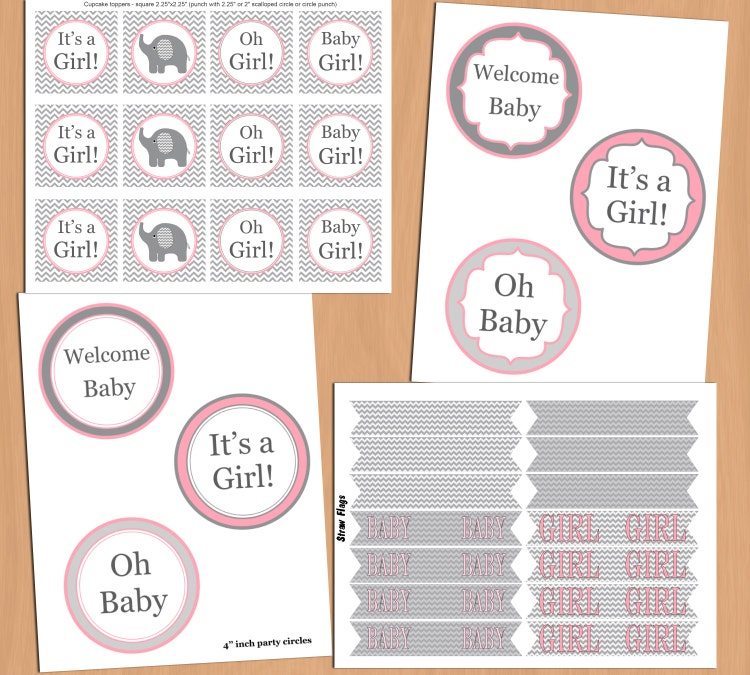 Baby shower decorations girl baby shower party pack by for Baby shower decoration packs