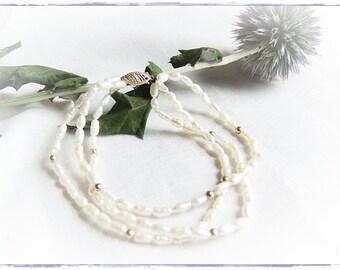 three-row pearl bracelet