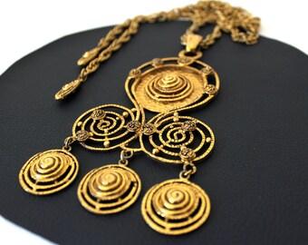 60s Mod Pendant Necklace