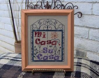 Mi Casa, Su Casa Cross Stitch Pattern from Designs by Lisa