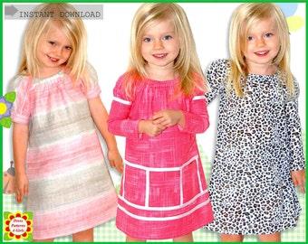 Juliet Girls Dress Pattern + Free Mother-Daughter Apron Pattern, Peasant Dress Pattern, Childrens Sewing Patterns pdf, Toddler Baby Patterns