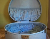 Light Blue Samsonite Streamlite Round Hat Box Luggage