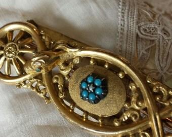 Elegant Snake Victorian gold wash Buckle