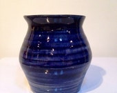 Spiral Inspired: Navy Blue and White Multipurpose Vase