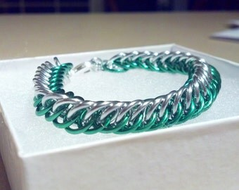 Persian Green and Silver Bracelet.