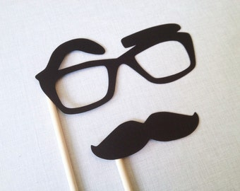 Raised Eyebrow Glasses Photo Booth Prop - Glasses Photo Booth  - Funny Photo Booth Props