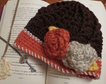 Crochet Vintage Swirl Hat