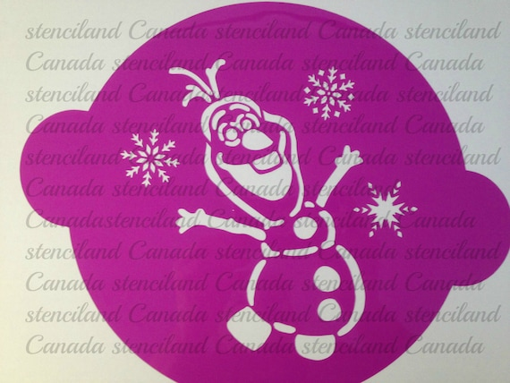 disney frozen olaf inspired cake stencil topper par stenciland
