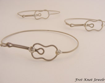 Acoustic Guitar Bracelet (Jewelry Made out of Recycled Guitar Strings)