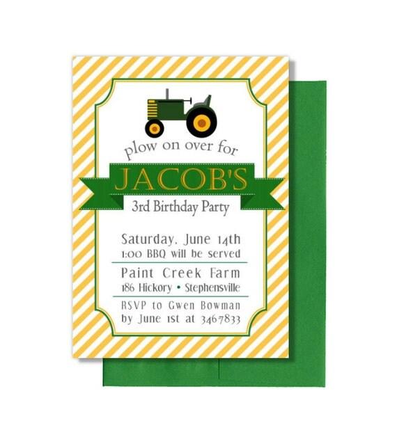 John Deere Party Invitations was good invitations example