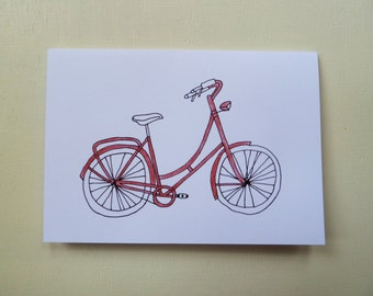Illustrated Bicycle Greetings Card