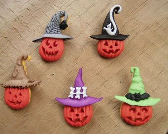 Halloween Themed Jack-in-a-Hat Necklace