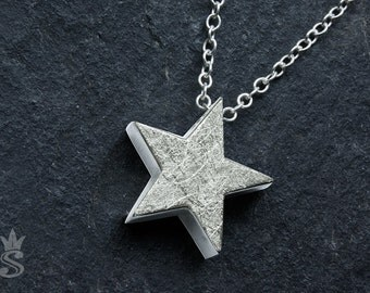 Big Star. Sterling silver pendant. Necklace. Handmade jewelry.