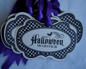 Halloween Tags, Vintage Inspired. Halloween Candy tags. Set of 5