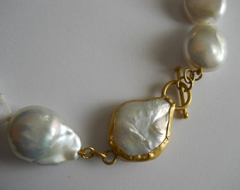 Baroque Pearl Strand with 22kt Gold Clasp