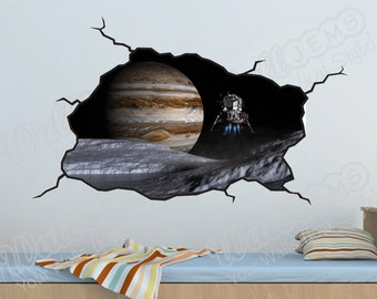 Space Planets Wall Decal   Kids Bedroom Vinyl Wall Decal Part 52