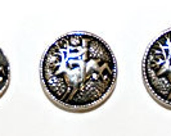 TP38, TP42 or TP46  -  Peer Gynt Pewter Button (3 size options - Price is per single button)