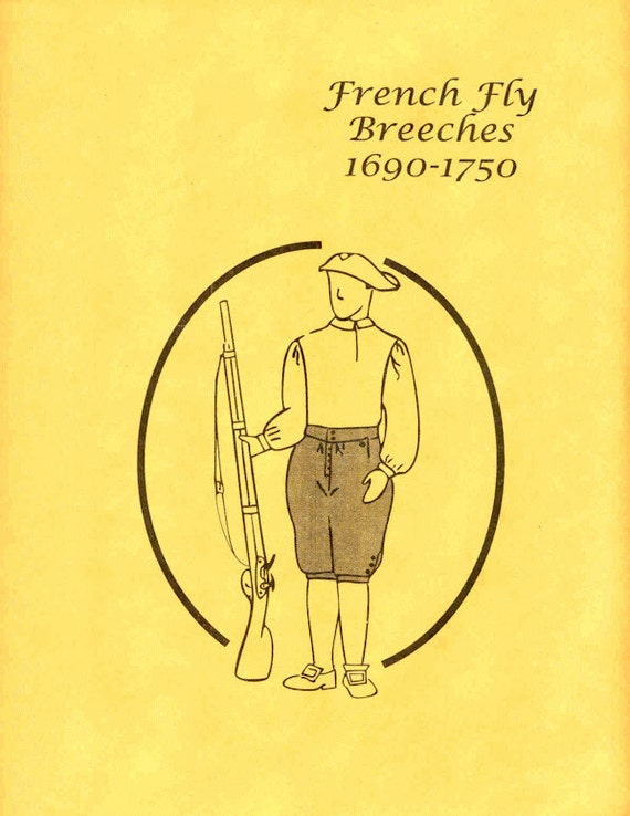 TG123W - 1690 – 1750 Men's French Fly Breeches Pattern