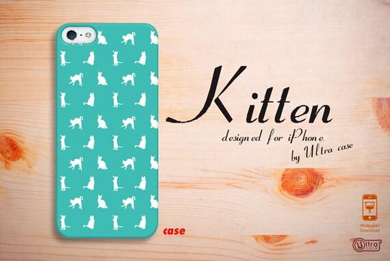 Cute IPhone 4 Case Kitten Mint IPhone 5S Hard Case By
