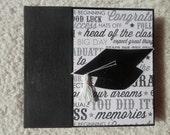 6x6 Chipboard Graduation Scrapbook Photo Album