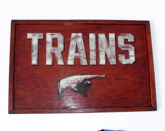 Vintage Style Train Station sign