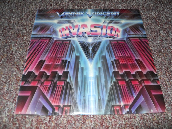 Vinnie Vincent Invasion Vinyl Record Lp Album Kiss Rock N Roll