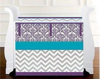 Purple Gray Baby bedding crib set Girl Crib by ...