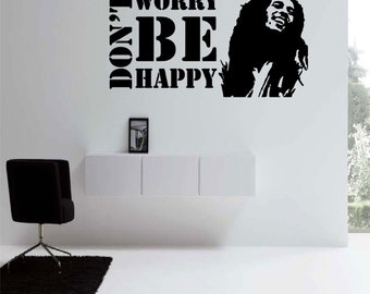 Dont Worry Be Happy (Bob Marley) Wall Decal