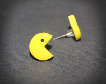 Pacman - Pacman and Ms. Pacman stud earrings