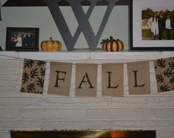 READY TO SHIP- Fall Burlap Banner