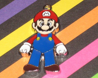 Mario Standing Enamel Pendant Charm(s) Only