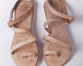 Wewelduwa Tuna leather sandals - Natural/ Pink