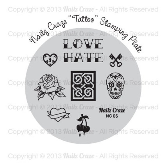 Nailz Craze NC06 Stamping Plate