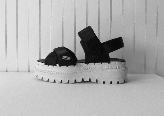 90 S Chunky Platform Sandals Rubber Sole Platform Club Kid